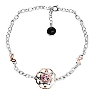 The Saga Bracelet 925 Silver Rose Gold Silver Rose Swarovski Crystal WM8B