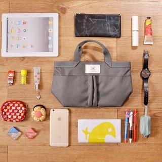 LaPoche Secrete: Exchanging Gifts_Elegant Storage Bag Medium Bag_Gray
