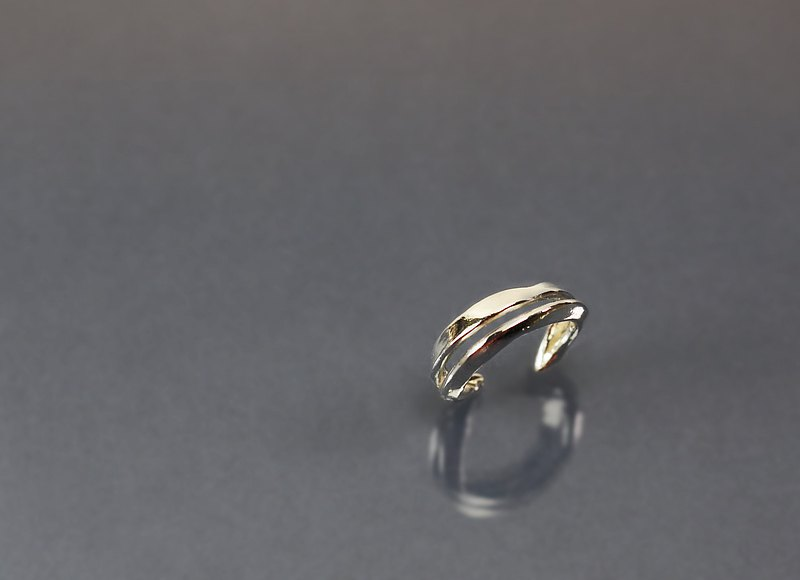 Line Series-Double Line Design 925 Silver Ring