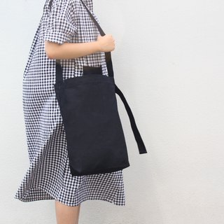 Black bottomed straight bag | Black long strap