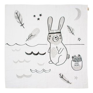 Australia Kippins Organic Cotton Wrap - Ryan Bunny RIVER MUSLIN WRAP