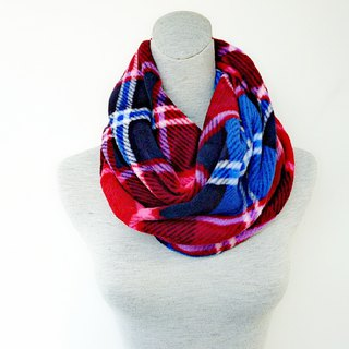 Double-sided hemp roll purple red plaid thick brush hair neck neck small scarf