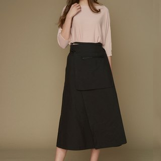 Attached to the shape bag long skirt