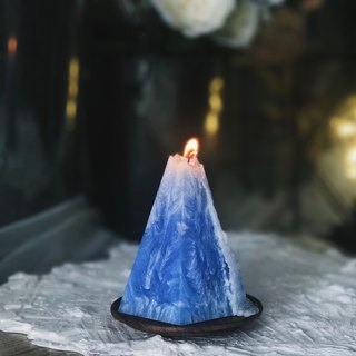 Fragrance Candle/ Handmade Christmas Gift (blue Candle Mountain)