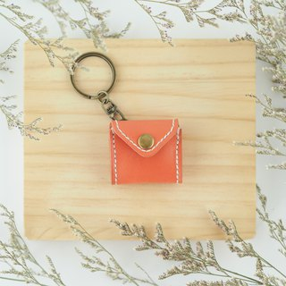 Mini chiffon key ring orange coin purse envelope modeling necklace