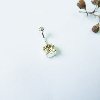 Round・Belly ring Yellow Sterling Silver【SZBR1732】