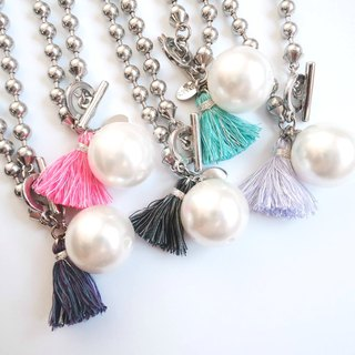 Colourful tassel necklace