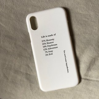 Life is made of/soft shell/text phone case