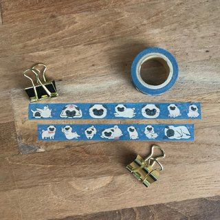 Pug dog tape 1.5cm wide