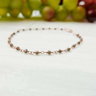 [Lalune] Personal Charm Grey Moonstone Rose Gold 925 Sterling Silver Bracelet