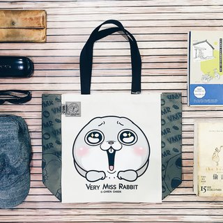 [I want to rabbit] - Tote bag. Canvas shoulder waterproof and non-toxic printing Valentine's Day gift