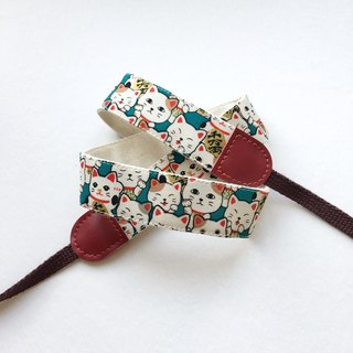 Japanese Lucky Cat Camera Strap