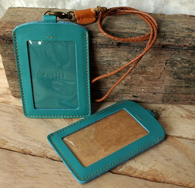 ID case / Key card case / Card case / Card holder - ID 2 -- Teal/Turquoise Blue