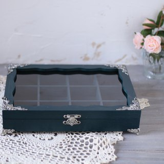 Rustic style retro wood jewelry box