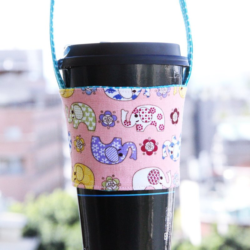 Wen Qingfeng environmental protection bag ~ Elephant travel hand-sided environmentally friendly beverage bag suction hand cup coffee bag exchange gifts