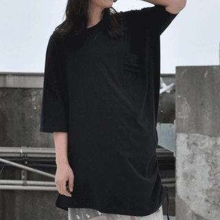 Women Dress 1/2 Sleeves V neck Hood Summer Dress-black