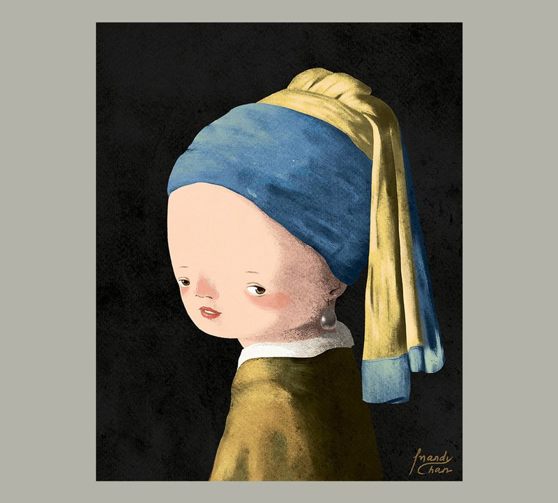 Girl with a Pearl Earring / Master Painting Postcard