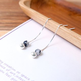 925 sterling silver natural stone earrings