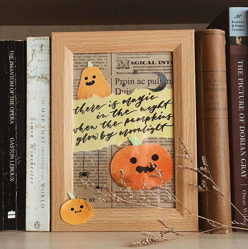 【เวิร์คช็อป】October・Mandie Kuo・English Calligraphy Advanced Class Halloween Handwriting Collage Frame