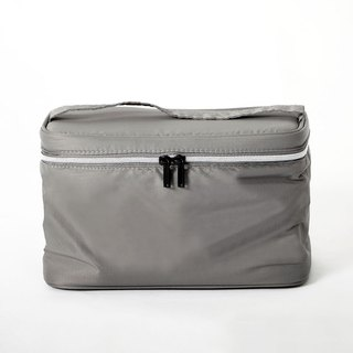 Cosmetic bag. gray
