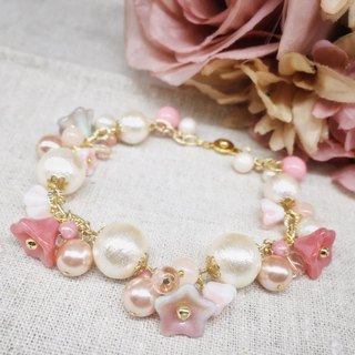 [Atelier A.] Christmas selection cherry plant cotton bracelet strawberry series