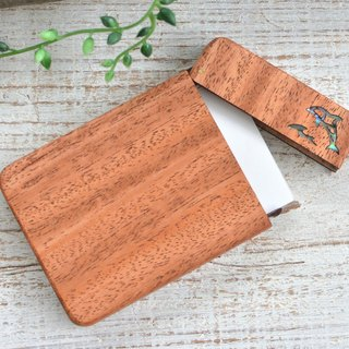 Wooden business card holder 【Dolphin / Dolphin】 Mahogany