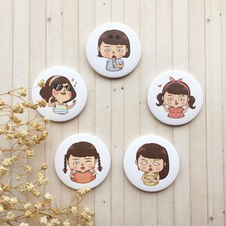 Mary Series | Big badge / magnet