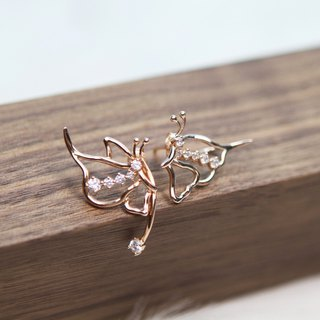 Butterflymoon series limited edition personality boutique special pure silver plated 18k gold butterfly ear clip