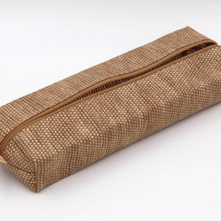 【Paper Cloth】Pen and Stationery Bag (Light Brown)