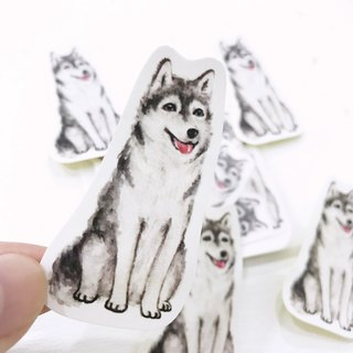 Puppy Series Sticker-Stickers,Watercolor,illustrations,Sticker,Husky Sticker,cute Stickers,Handmade Sticker,Laptop Sticker