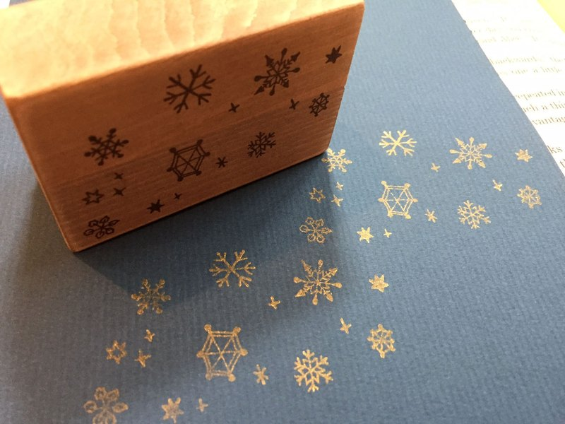 Snow crystal stamp