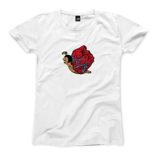 Heart snail - White - Women's T-Shirt