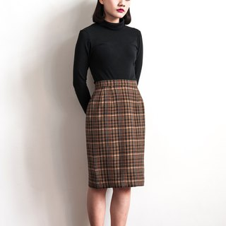 Vintage classic striped vintage wool skirt