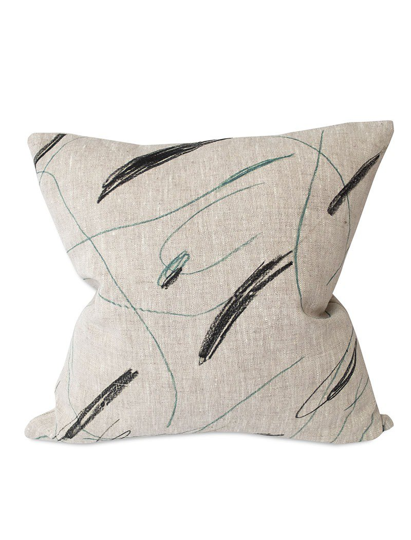 Nordic style designer - pillowcase ALINA CUSHION COVER, GREEN