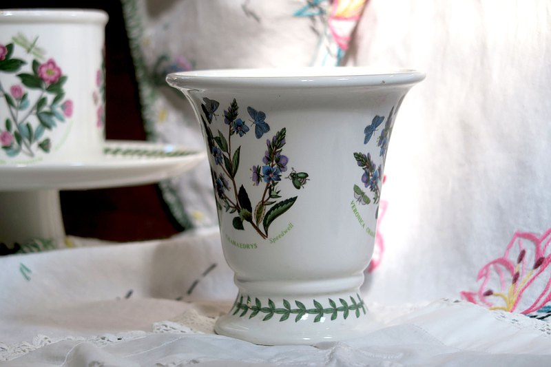 British Portmeirion old vase Veronica chamaedrys