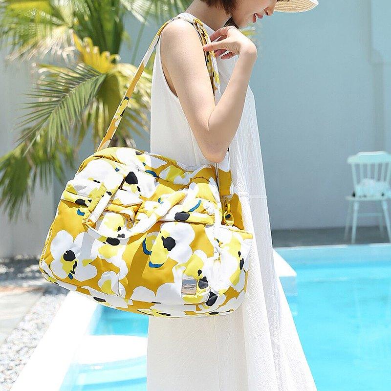 【出行必備】VOVAROVA 防潑水週末旅行袋  -希望之花 - 黃色