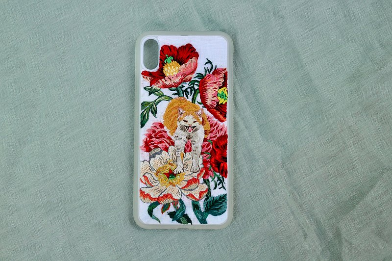 Botanicat / Cat Embroidery /Botanical / Hand Embroidered / Customized