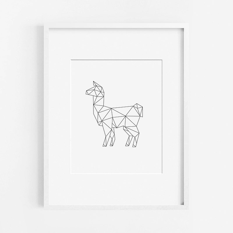 Alpaca llama grass mud horse painting layout decoration bedroom bathroom restaurant cafe