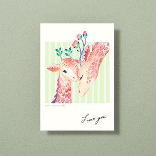 Illustrator postcard - Love you