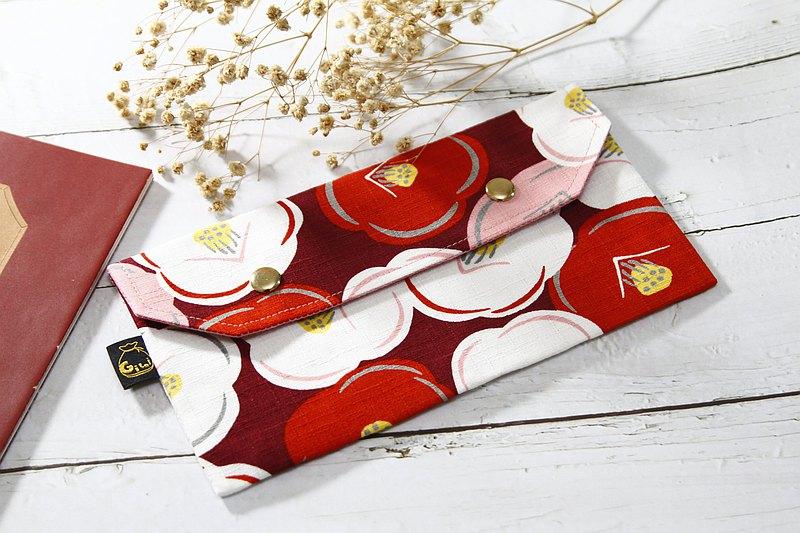 【Gi LAI】口罩收納袋/萬用小袋仔/Mini Pouch-樁花朵朵