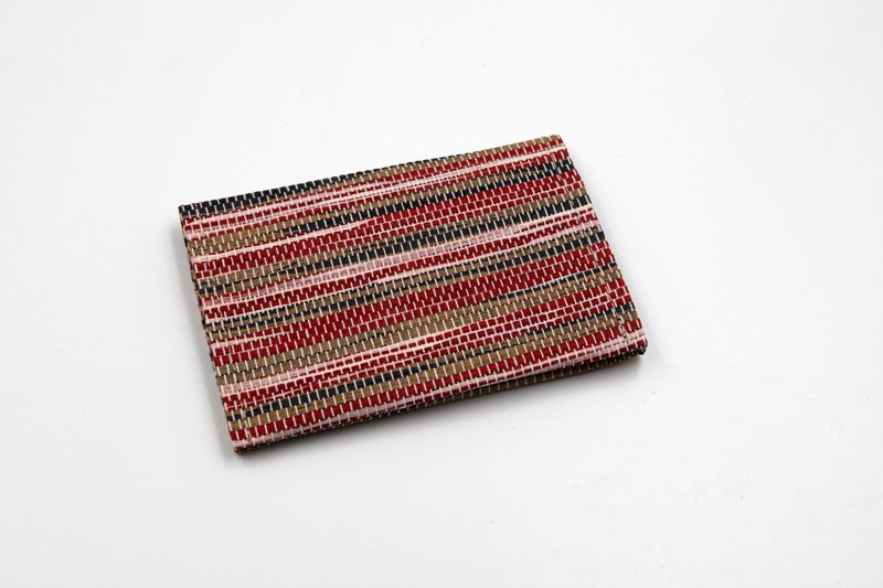 【Paper Home】 Paper woven business card holder ripple red