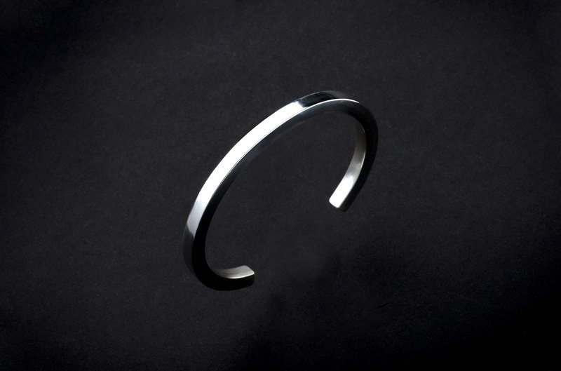 Square Bracelet 925 Sterling Silver / Brass Hand Forged Extremely Thick 5mm