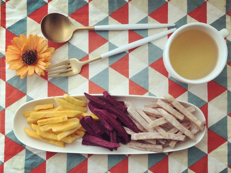 【當好蔬果遇見好神保庇】綜合薯條脆片100g昇級版