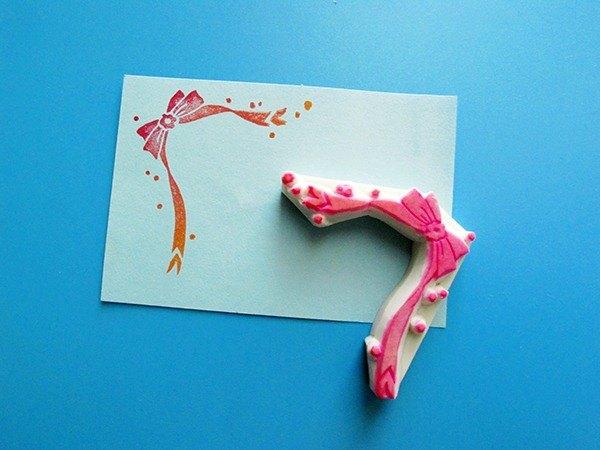 Apu手工章 實用唯美緞帶蝴蝶结角花印章 手帐印章