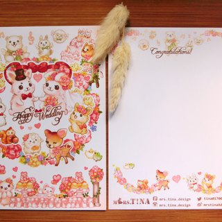 Postcard - wedding rabbit