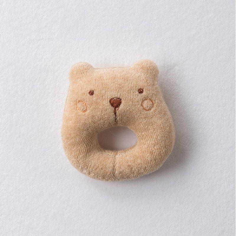 【Amorosa Mamma有機棉】嬰兒搖鈴(摩卡熊)