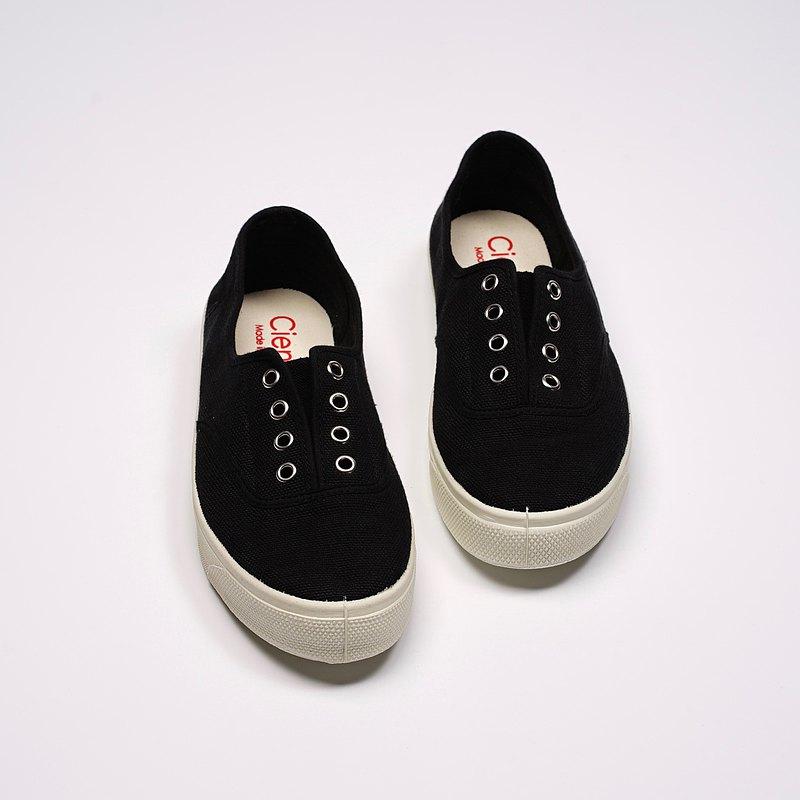 西班牙國民帆布鞋 CIENTA 10997 01 黑色 經典布料 大人