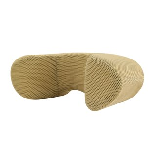 [Part A brown _ mesh cloth neck pillow] office / car with the neck to express the pillow neck pillow [Prodigy wave giant]