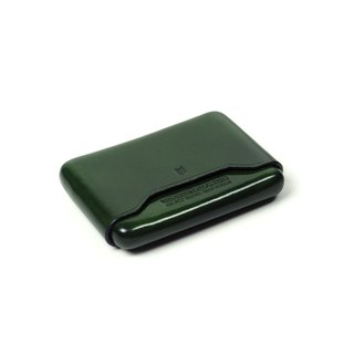 Name card leather case /Moss GREEN