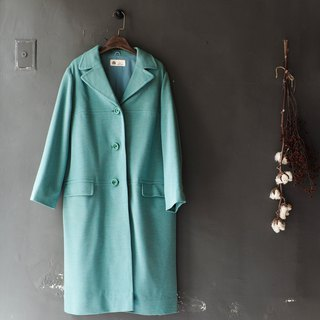 Rivers and mountains - Lake Green lapel youth love log wool antique fur coat wool fur vintage wool vintage overcoat